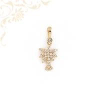 Cirkónia köves pálmafa arany medál