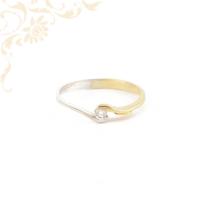 Női arany gyémánt gyűrű
