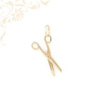 Olló formájú arany medál mozgatható