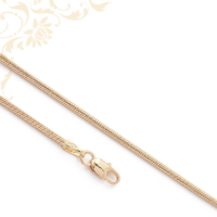 Kígyó fazonú női arany nyaklánc