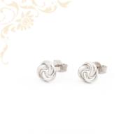Nagyon dekoratív, áttört mintás arany fülbevaló, stekkeres záródással