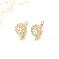 Cirkónia kövekkel díszített, gyermek-bébi köves arany fülbevaló