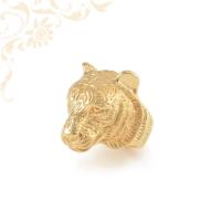 Tigrisfejes férfi arany pecsétgyűrű