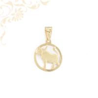 Bika horoszkópos arany medál