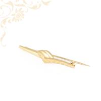 Női arany kitűző, arany bross