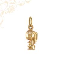 Nyúl formájú, gyermek arany medál (3D)