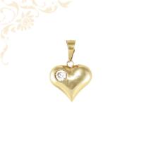 Köves arany szív medál