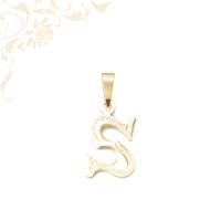 S betű medál aranyból