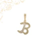B betű arany medál