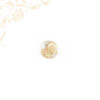 Nagyon szép, domború formájú, női arany futó medál