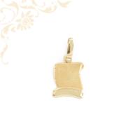 Pergamen arany medál, gyémántvésett Sz betű felirattal