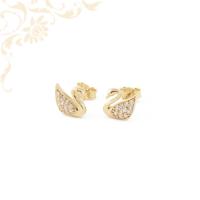 Cirkónia köves hattyú arany fülbevaló
