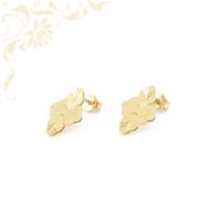 Nagyon szép és mutatós, gyémántvésett mintával díszített női arany fülbevaló