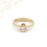 Cirkónia köves eljegyzési arany gyűrű