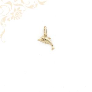 Kis súlyú, üreges, arany delfin medál (3D)