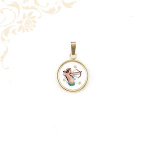 Nyilas tűzzománc horoszkópos arany medál