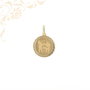 Ikrek arany horoszkópos medál.