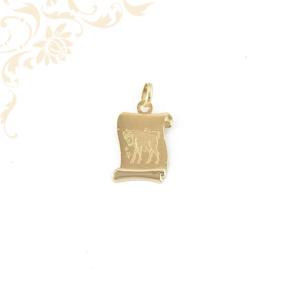 Bika horoszkópos arany medál.