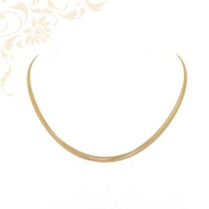 három soros női arany anker nyaklánc