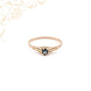 Zafír köves női arany gyűrű