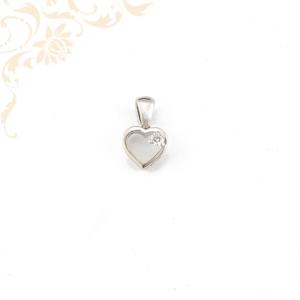Szív formájú női  arany gyémánttal ékesített medál