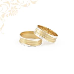 Széles fazonú arany karikagyűrű pár