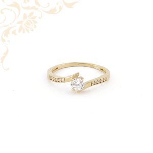 Női köves arany gyűrű, eljegyzési gyűrű