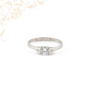 Fehérarany női köves arany gyűrű, eljegyzési gyűrű