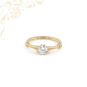Cikónia köves női arany gyűrű, eljegyzési gyűrű