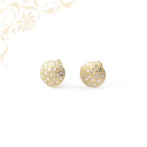 Kerek formájú női arany fülbevaló