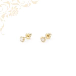 Kör alakú arany stekkeres fülbevaló