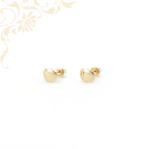 Tükörfényes felületű stekkeres arany fülbevaló.