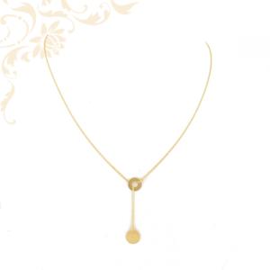 Női arany nyaklánc kerek medálokkal