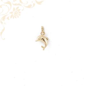 Arany delfin medál 3D.