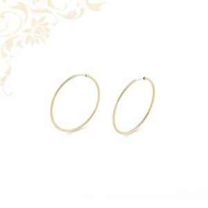 Nagyméretű női arany karika fülbevaló