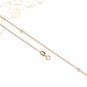 Női arany nyaklánc arany gömböcskékkel