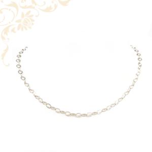 Lapos szemekből álló, női ezüst nyaklánc