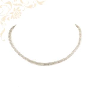Csipkemintás női ezüst nyakék