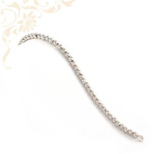 Ezüst gömbökkel dísztett, női ezüst karkötő