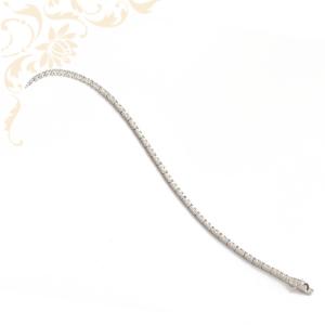 Cirkónia köves ezüst női karkötő