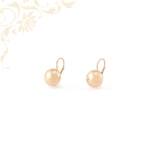 Arany lencse fülbevaló rozé aranyból