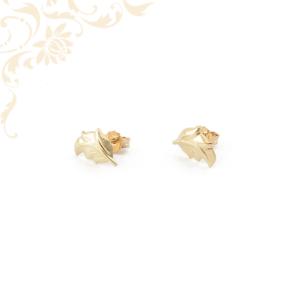 Levél formájú arany fülbevaló