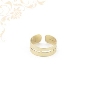Áttört mintás női arany lábujjgyűrű