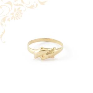 Delfines női arany gyűrű