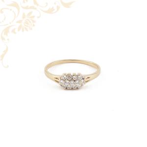 Női arany gyűrű cirkónia kövekkel