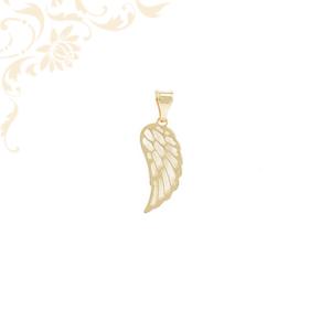 Áttört angyalszárny arany medál.