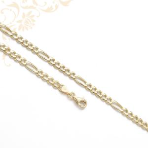 5+1 szemes Figaro fazonú arany nyaklánc
