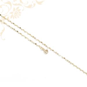 Kis súlyú, lemezelt lapokból álló női arany nyaklánc.