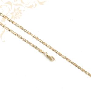 Háromszínű aranyból készült női arany nyaklánc.