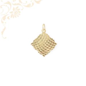 Gyémántvésett női arany medál